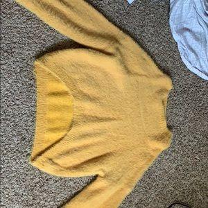 Yellow semi turtle neck sweater